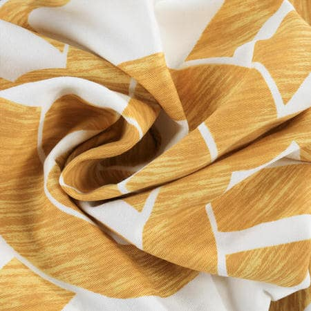Celtic Gold Printed Cotton Twill Fabric