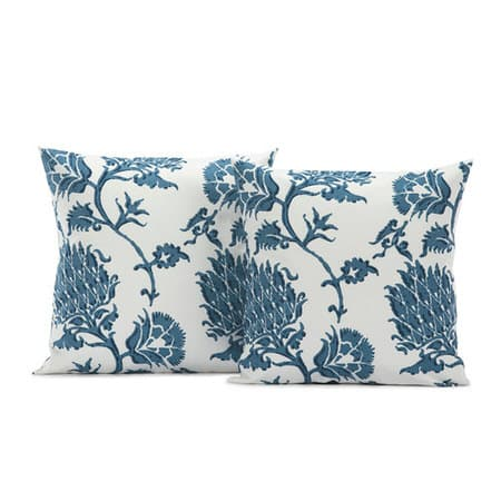 Duchess Blue Printed Cotton Cushion Covers - PAIR