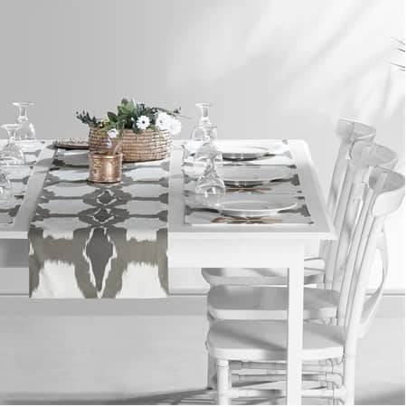 Sorong Printed Cotton Table Runner & Placemats