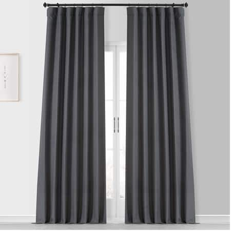 Fountain Grey Placid Thermal Hotel Blackout Curtain Pair (2 Panels)