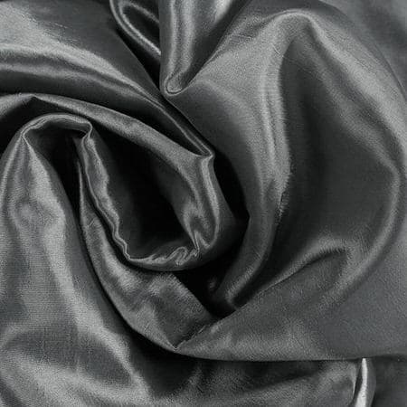 Burnished Hematite Blackout Extra Wide Faux Silk Taffeta Swatch