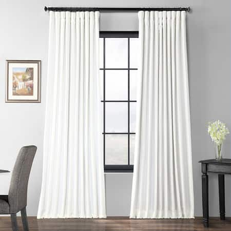 Gleaming Sugar Blackout Extra Wide Faux Silk Taffeta Curtain