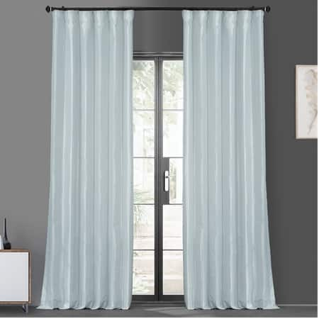 Blue Moon Blackout Faux Silk Taffeta Curtain