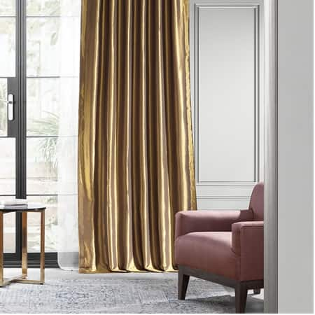 Golden Spice Blackout Faux Silk Taffeta Curtain