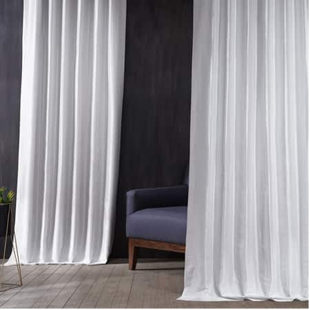 Signature Clever Cream Faux Silk Taffeta Hotel Blackout Curtain