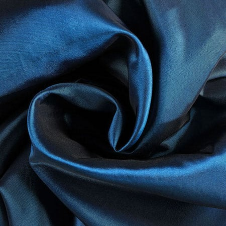 Azul Faux Silk Taffeta Fabric