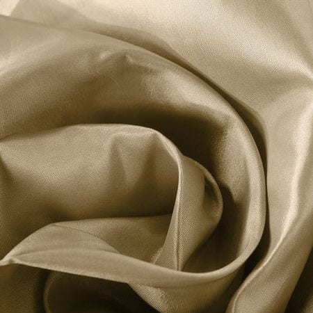 Tuscan Tan Faux Silk Taffeta Fabric