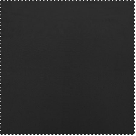 Jet Black Faux Silk Taffeta Fabric