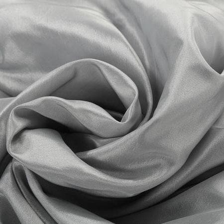 Feather Grey Faux Silk Taffeta Swatch