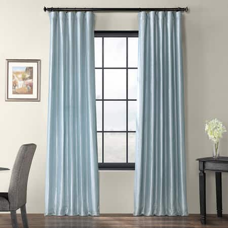 Winter Ice Faux Silk Taffeta Curtain