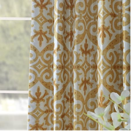 Iron Gate Gold Designer Printed Blackout Curtain