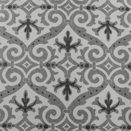 Iron Gate Grey Printed Faux Silk Taffeta Blackout Swatch