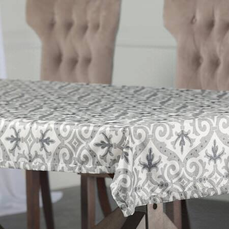 Iron Gate Grey Designer Faux Silk Taffeta Outdoor Table Cloth