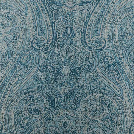 Wilton Blue Printed Faux Silk Taffeta Blackout Swatch