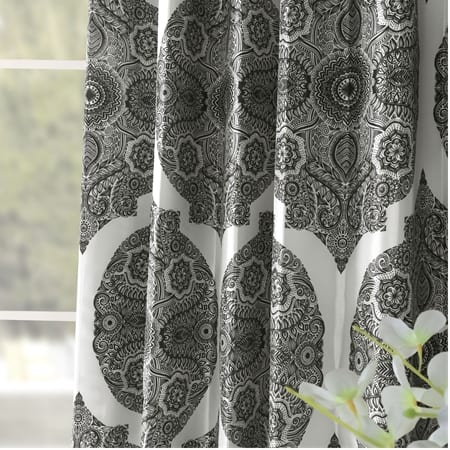 Royal Mendi Grey Designer Printed Blackout Curtain