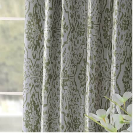 Tabriz Green Designer Printed Blackout Curtain