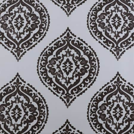 Donegal Grey Printed Faux Silk Taffeta Blackout Swatch