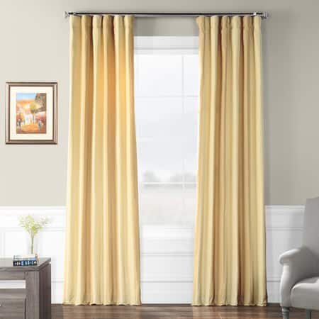 Berkshire Gold Multi Designer Striped Faux Silk Curtain