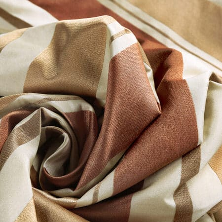 Oakmere Luxury Faux Silk Stripe Fabric