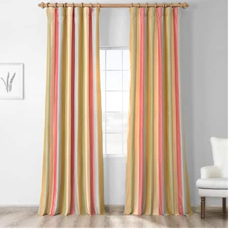 Hapsford Luxury Faux Silk Stripe Curtain