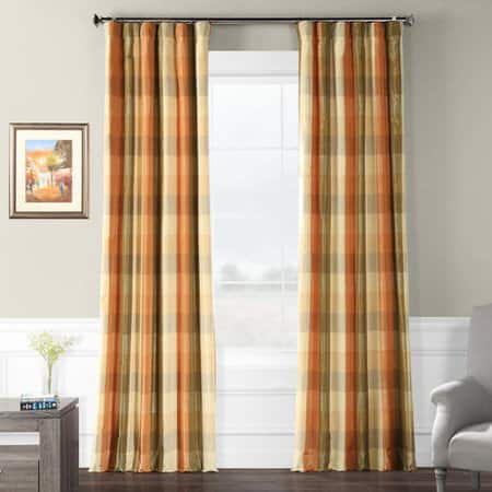 Cumbria Faux Silk Plaid Curtain