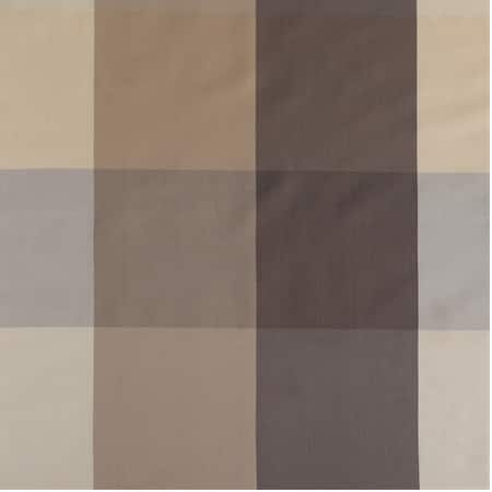 Sutton Taupe & Gold Designer Faux Silk Plaid Fabric