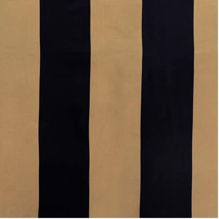 Regency Black & Gold Designer Striped Faux Silk Swatch