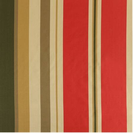 Orleans Bright Red & Gold Designer Striped Faux Silk Swatch