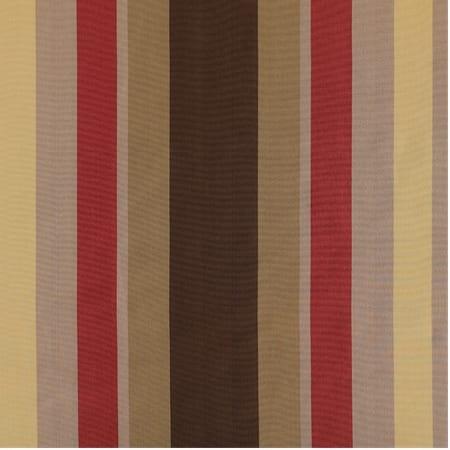 Mirage Gold, Green & Red Designer Striped Faux Silk Swatch