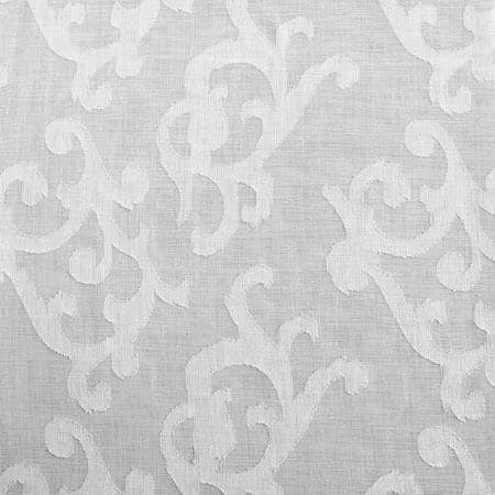 Paris Scroll Patterned Faux Linen Sheer Swatch