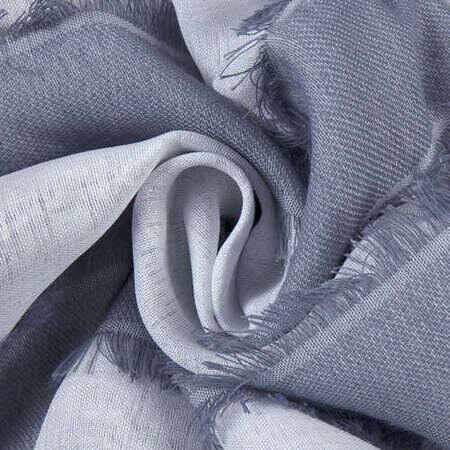 Antares Blue Patterned Linen Sheer Swatch
