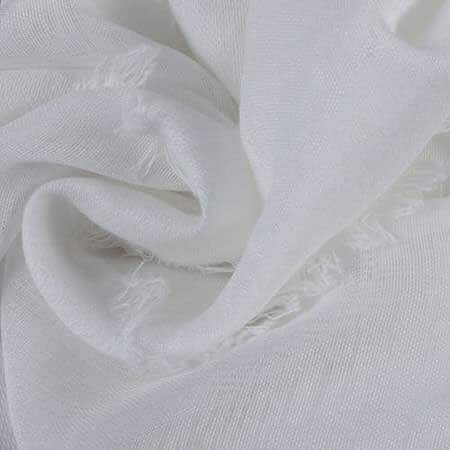 Antares White Patterned Linen Sheer Swatch