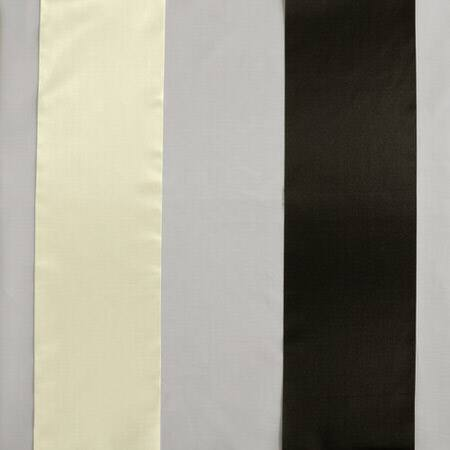 Buffed Black & White Organza Vertical Stripe Sheer Swatch