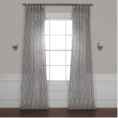 Grecian Grey Printed Sheer Curtain