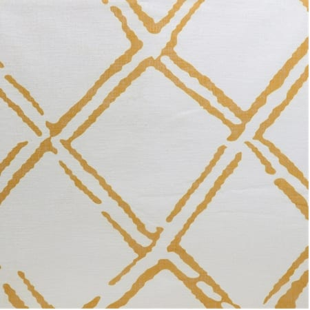 Normandy Gold Printed Faux Linen Sheer Swatch