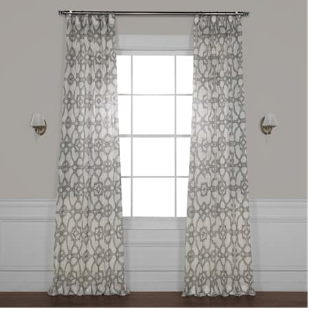 SeaGlass Grey Printed Sheer Curtain