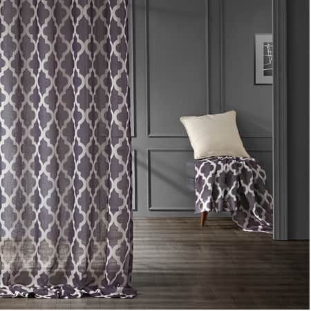 Birmingham Mulberry Grommet Printed Sheer Curtain