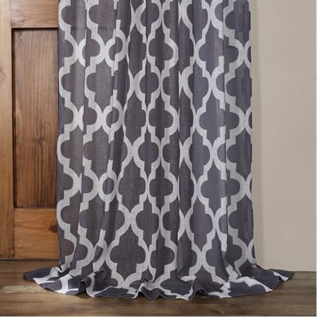 Birmingham Mulberry Printed Sheer Curtain