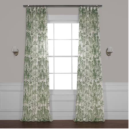 Xenia Green Printed Sheer Curtain