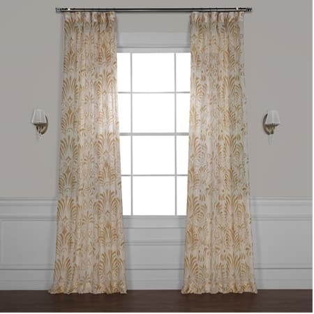 Xenia Tan Printed Sheer Curtain