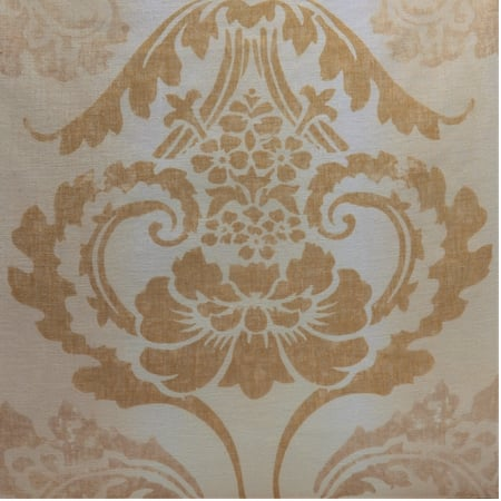 Damacus Tan Printed Sheer Swatch