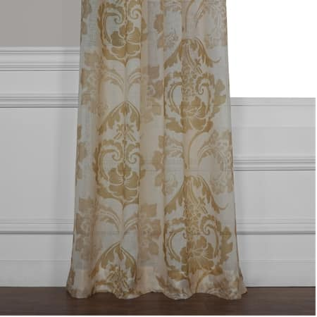Damascus Tan Printed Sheer Curtain