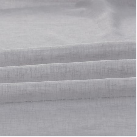 Steel Mountain Solid Faux Linen Sheer Fabric
