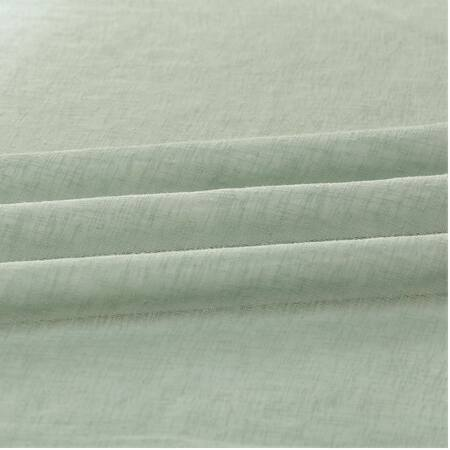 Rio Sky Solid Faux Linen Sheer Swatch