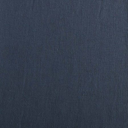 Tahoe Blue Solid Faux Linen Sheer Fabric