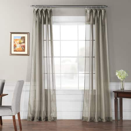 Signature Museum Grey Sheer Curtain