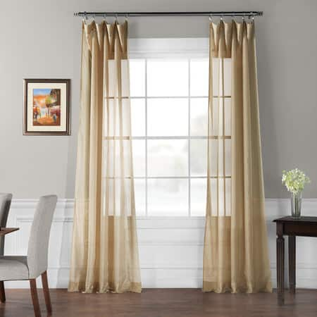 Signature Double Layered Soft Tan Sheer Curtain