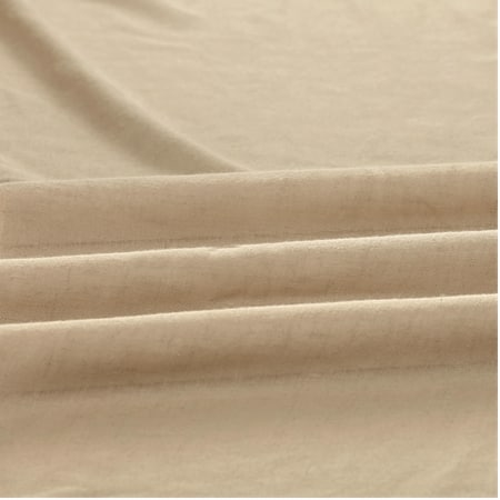 Raffia Tan Faux Linen Sheer Fabric