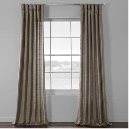 Nighthawk Grey Yarn Dyed Designer Faux Raw Textured Silk Curtains