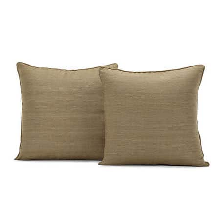 Sandalwood Raw Silk Cushion Cover - Pair